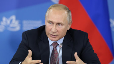 Vladimir Putin uses the West's systems against it.