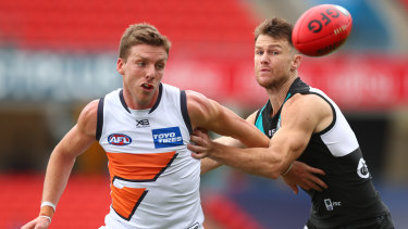 Aidan Corr has left the Giants' hub after informing the club he would exercise his rights as a restricted free agent.