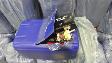 Australian Border Force said the cigarettes were concealed within sophisticated cover loads.