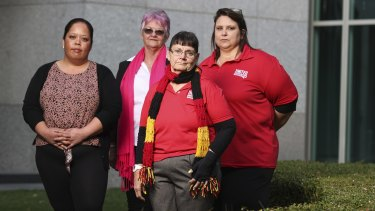 Aged care workers Nicole, Jude, Jen and Donna are disappointed the budget did not include higher wages.
