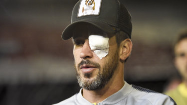 Boca's Pablo Perez sustained an eye injury in the attack.