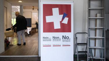 A poster opposing the tougher EU gun laws.