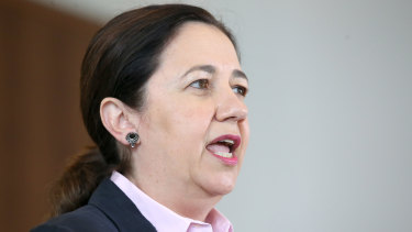 Queensland Premier Annastacia Palaszczuk reveals a cleaner has tested positive.