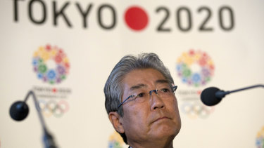 Takeda in 2013, during the first international representation of the Tokyo 2020 bid.