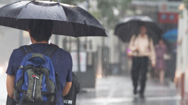 The heaviest rain fell on Saturday night in south-east Queensland.