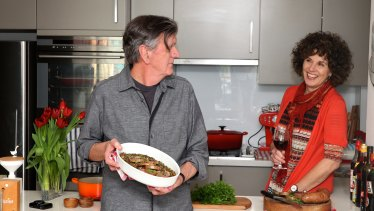 Terry Durack and Jill Dupleix at home in 2013.