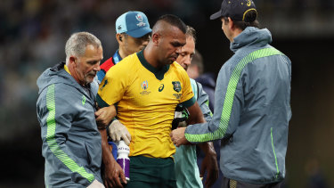 Out of form: Recovering from the head knock Kurtley Beale sustained against Georgia is just one of his challenges.