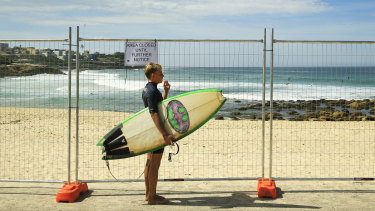 Swimmers and surfers are being prevented from using Bronte Beach in Sydney's east.
