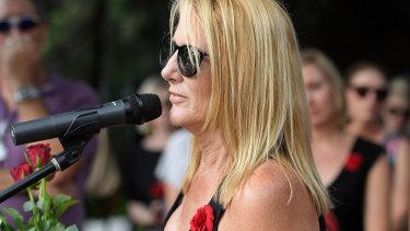 Natalie Hinton at Friday's rally.