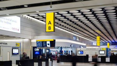 Heathrow's Terminal 4 shown nearly empty as a result of coronavirus pandemic which has grounded the aviation sector.
