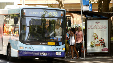 Buses only make up a small number of the vehicles on Sydney roads.