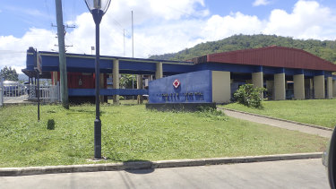 A hospital in Samoa which received Japanese support during a recent measles outbreak.