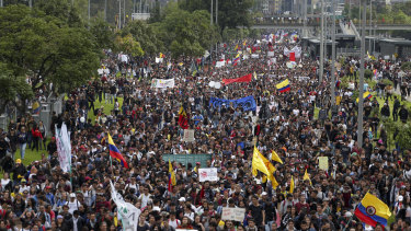 Colombia's main union groups and student activists called the strike to protest the economic policies of President Ivan Duque and a long list of grievances.