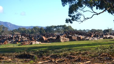 Tree removal along the Western Highway between April and June in 2015 during the first stage of duplication works,  between Beaufort and Buangor.