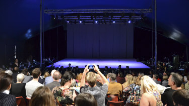 An empty stage at the Yarra Valley Opera Festival 2019.