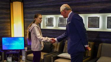 Prince Charles meet Swedish climate campaigner Greta Thunberg.