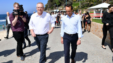 """PM Scott Morrison described Dave Sharma as """"the best candidate"""" for Wentworth on Friday."""