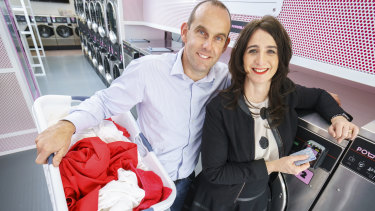 Powder Laundry co-founders Simon and Jodie Madden.