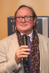 Kevin Sheedy holding court at a book launch last year in Melbourne.