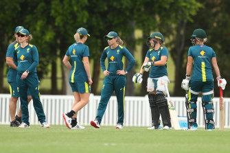 The Australian team training in Brisbane this week.