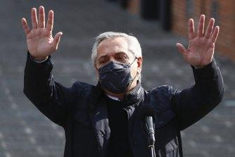 Argentina's President Alberto Fernandez.