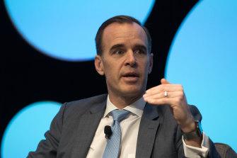 KKR Australia head Scott Bookmyer speaks at The Australian Financial Review business summit in March.