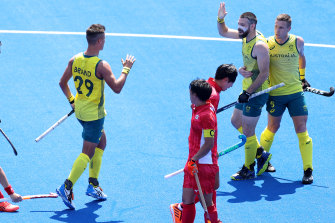 The Kookaburras have opened their Olympic campaign with a win against Japan.