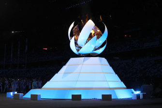 The cauldron closes, extinguishing the Olympic flame, as the Tokyo Games came to an end on Sunday.