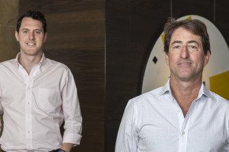 ANZi managing director Ron Spector (right) and Dan Wypler (left).