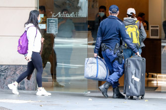 Travellers are returning from overseas and being quarantined in Sydney hotels.