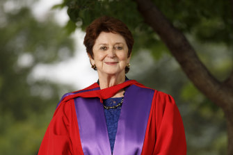 Former senator, education minister, and Age Discrimination Commissioner Susan Ryan was awarded an honorary doctorate by ANU in 2017.