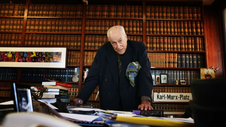 Defamation barrister Clive Evatt in his Sydney chambers.