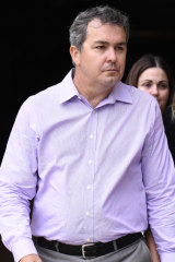 Dreamworld first aid officer Ben Hicks leaves the Magistrates Court at Southport.