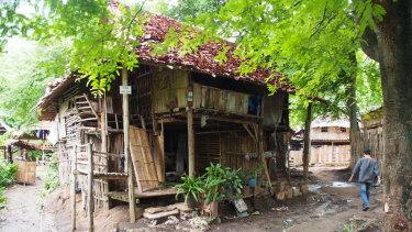 A home inside the Mae La refugee camp on the Thai-Burma border.