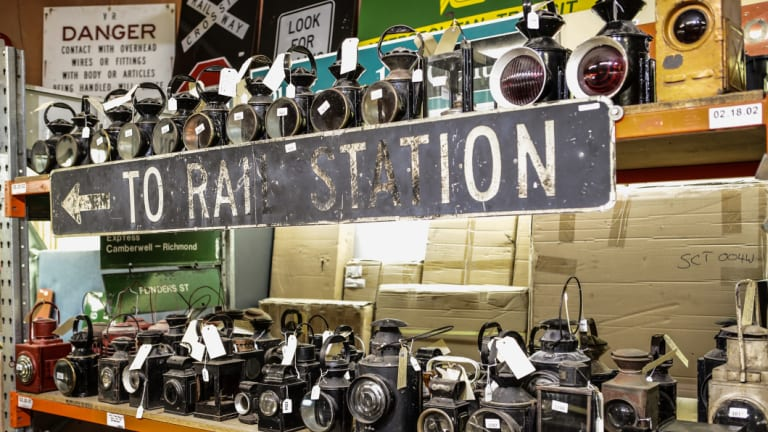 Anyone have a light? More than 200 antique railway lanterns are for sale.