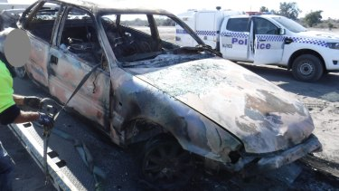 The car police believe was used in the incident.