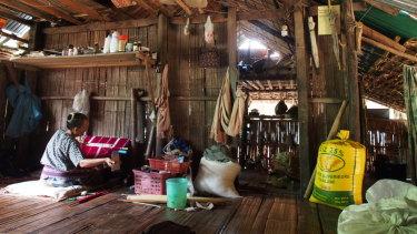 Doing it tough:  A home inside the Mae La refugee camp.