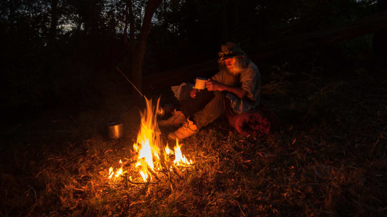 Poetry by campfire.