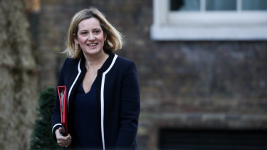 The UK work and pensions secretary, Amber Rudd, , pictured last week, has borken ranks and suggested a 'Plan B' for Brexit.