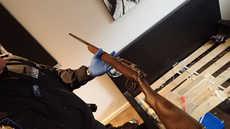 One of the three guns found by police.