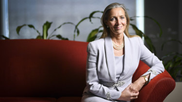 Britain's Minister of State for Trade Baroness Rona Fairhead in Melbourne on Tuesday