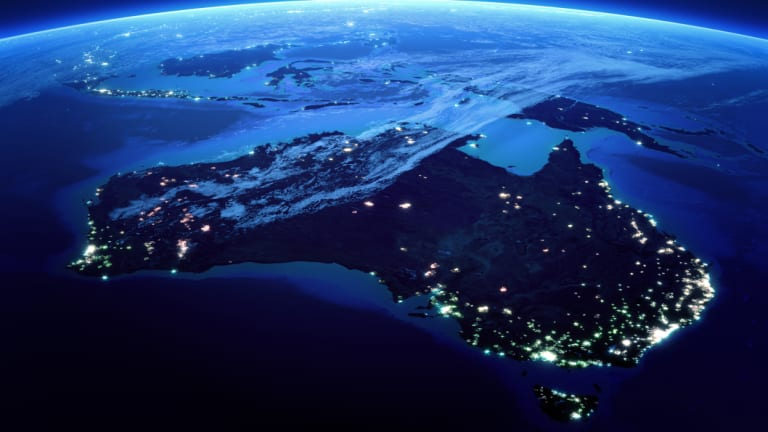 A satellite view of the bright lights of Australia at night highlight how the population is concentrated in our state capitals.