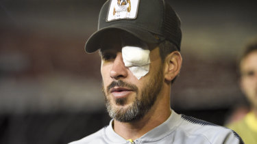 Boca's captain Pablo Perez sustained an eye injury in the attack.