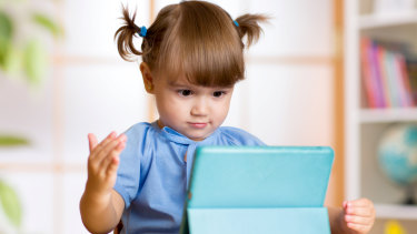 """By the age of four, most youngsters are already """"self-sufficient"""" on a tablet or mobile phone."""