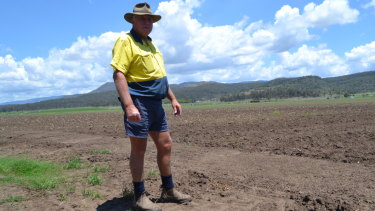 Mulgowie Farm manager Ian Neuendorf in the fields.