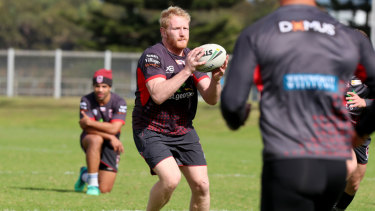 Hard work: James Graham has been a prize recruit for St George Illawarra.