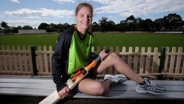 Nicola Carey wants to make her mark in world cricket.