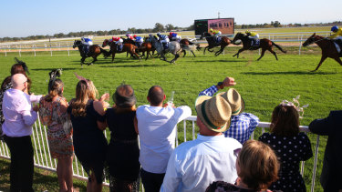 Home and hosed: Racing returns to Hawkesbury on Sunday with a seven-race card.