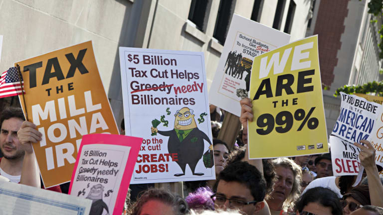 """Stiglitz's chronicling of the wealth and power held by 1 per cent of the US population inspired the 2011 Occupy Wall Street movement's slogan, """"We are the 99%."""""""