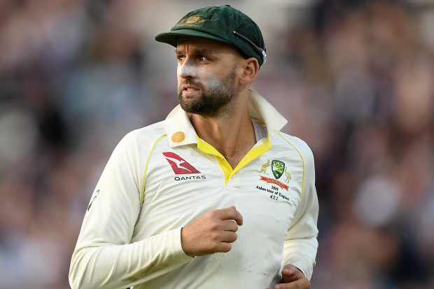 Nathan Lyon during this year's Ashes.